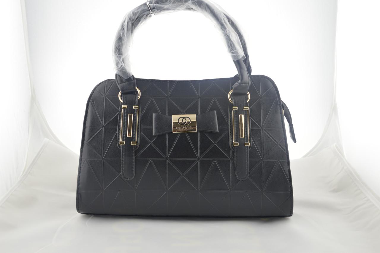 Женская черная сумка эко кожа сумочка