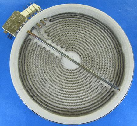 Конфорка для стеклокерамики 2200/1200W, D- 210/140 mm