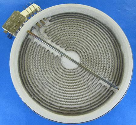 Конфорка для стеклокерамики 2200/1200W, D- 210/140 mm, фото 2
