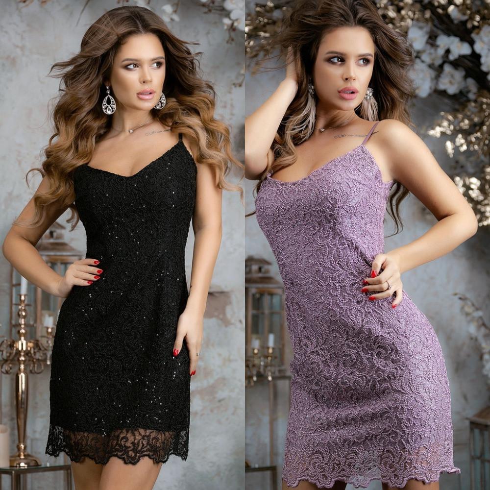 Платье женское нарядное, вечернее, гипюровое, на тонких бретельках, короткое, ровное, стильное, модное