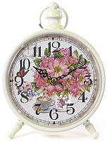 Часы настольные ретро Пионы 16х24 см (psg_BD-412-413)