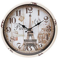 Часы настенные ретро Париж d 30 см (psg_BD-412-419)