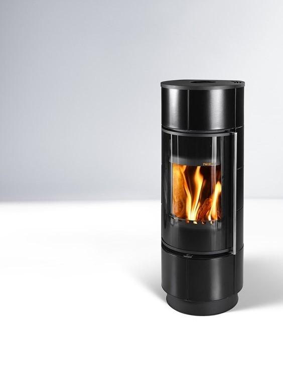 Печь с круглой топкой Thorma Atika Extra черная (керамическая печка)