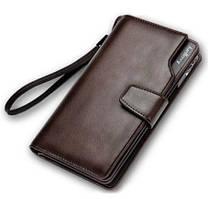 Портмоне мужское клатч Baellerry Business коричневый