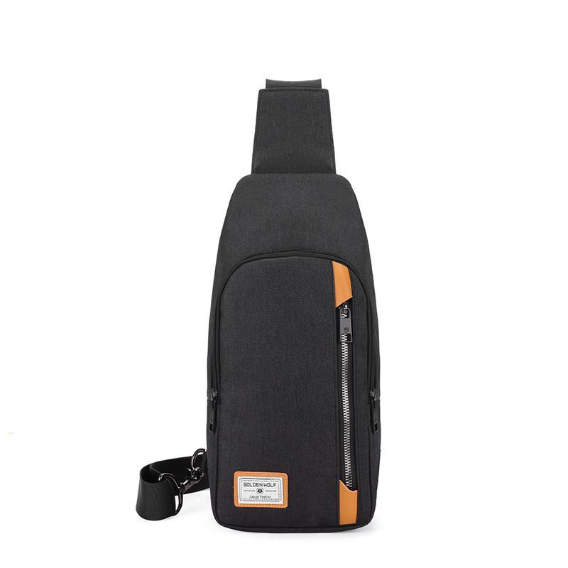 Тканевый городской рюкзак Golden Wolf GXB00106, с одной лямкой через плечо и отверстием для наушников, 3л