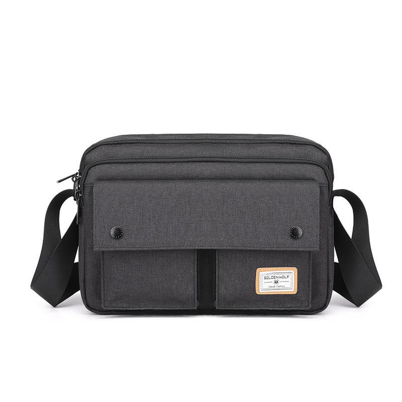 Небольшая сумка через плечо Golden Wolf GK00075, 6 отделений, из водоотталкивающей ткани, 8л