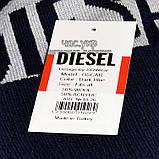 Хайповая мужская шапка Diesel синяя Турция Дизель Молодежная Крутая Новинка 2020 года VIP Стильная реплика, фото 3