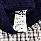 Хайповая мужская шапка Diesel синяя Турция Дизель Молодежная Крутая Новинка 2020 года VIP Стильная реплика, фото 4