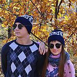 Хайповая мужская шапка Diesel синяя Турция Дизель Молодежная Крутая Новинка 2020 года VIP Стильная реплика, фото 6
