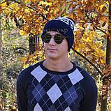 Хайповая мужская шапка Diesel синяя Турция Дизель Молодежная Крутая Новинка 2020 года VIP Стильная реплика, фото 7