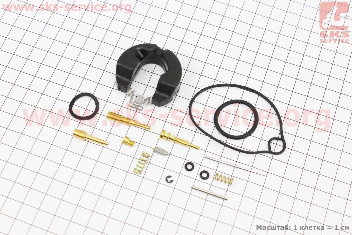 Ремонтний комплект карбюратора Honda Lead90, 14 деталей+поплавок на скутер