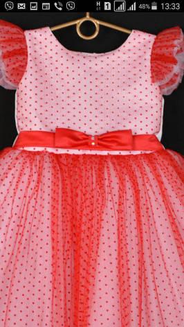 Платье нарядное для девочки евро сетка в точку р. 5-6 лет опт, фото 2