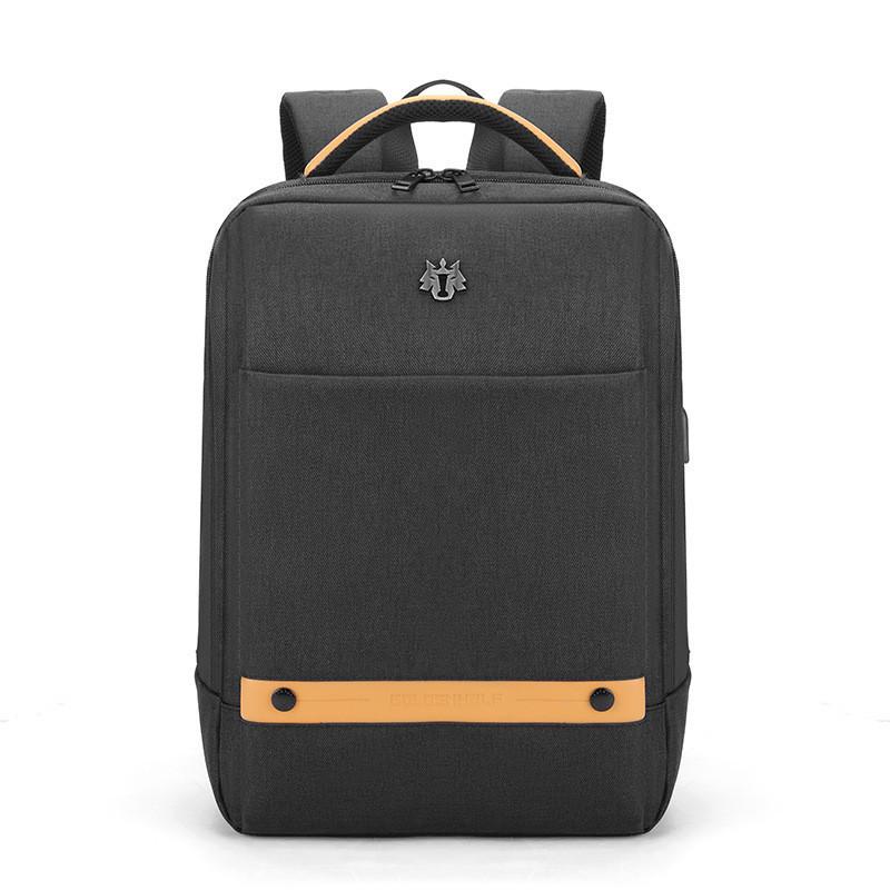 Тканевый городской рюкзак Golden Wolf GB00378 для ноутбука до 15,6, USB портом и отверстием для наушников, 20л