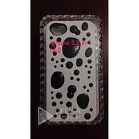 Бампер для телефона Iphone 5 черный с цветными каплями HT-2, Чехол для телефона, чехлы для айфонов