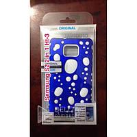 Бампер для телефона Samsung SII 9100 2 in 1 разные цвета с каплями HT-3, противоударный, силикон, Чехол для телефона Samsung