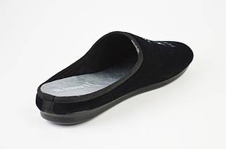 Тапочки мужские велюр Inblu RP1B черные, фото 2