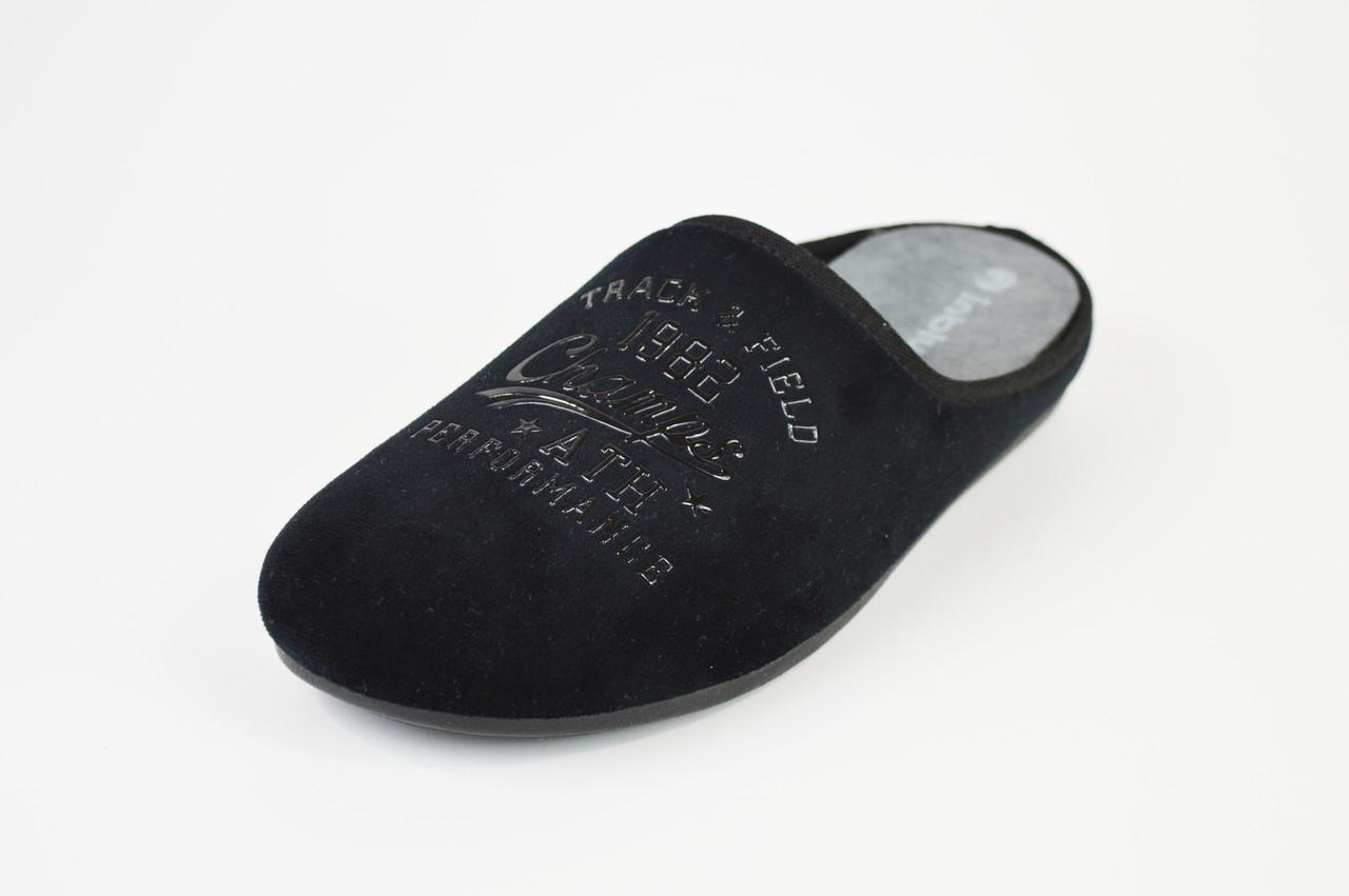 Тапочки мужские велюр Inblu RP1B черные