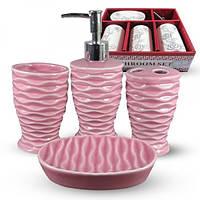 Набор аксессуаров для ванной комнаты SNT 888-142 4 предмета керамика