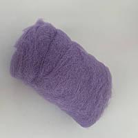 Шерсть для валяния кардочесанная ROSA TALENT, 40г, цвет лавандовый