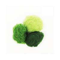 Набор шерсти кардочес 3х10г ROSA TALENT, зеленые оттенки