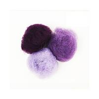 Набор шерсти кардочес 3х10г ROSA TALENT, фиолетовые оттенки