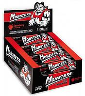 Батончик протеїновий з полуницею Monsters 80 гр 20 шт/уп 200 шт/ящ