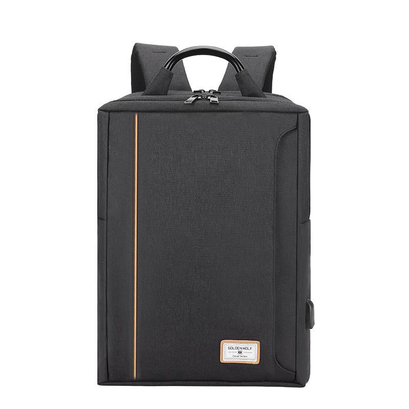Тканевый городской рюкзак Golden Wolf GB00379 для ноутбука до 15,6, с USB портом и тремя отделениями, 22л