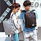 Тканевый городской рюкзак Golden Wolf GB00379 для ноутбука до 15,6, с USB портом и тремя отделениями, 22л, фото 8