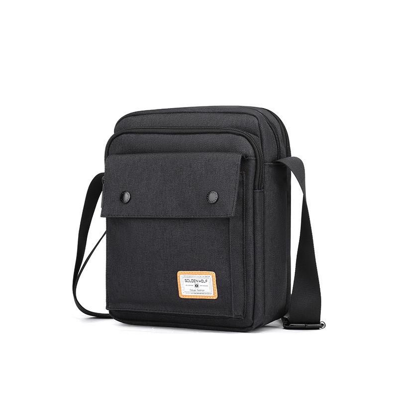 Небольшая сумка через плечо Golden Wolf GK00076, 5 отделений, из водоотталкивающей ткани, 6л