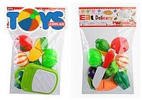Детский набор продуктов, 2 вида (фрукты и овощи) на липучках, MJL-801B-9