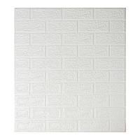 Листовые 3D панели для декора стен - Белый кирпич (Самоклейки)