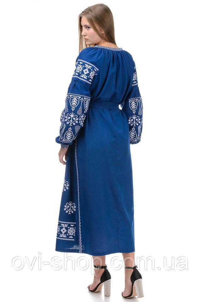 длинное платье вышиванка
