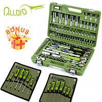 СУПЕР НАБОР!1555 грн.Набор инструментов 108 ед. Alloid НГ-4108П-6+ набор отверток в чехле 6 ед