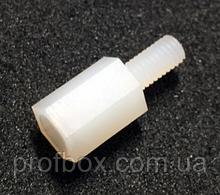 Стійка пластикова гайка/гвинт М3х8+6