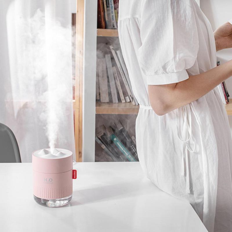 Ультразвуковий зволожувач повітря H2O Humidifier 500мл, рожевий