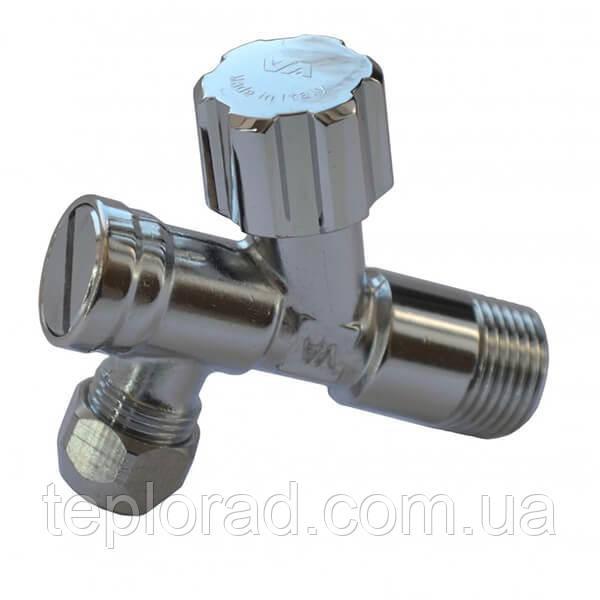 Кран с фильтром вентильный для сантехприборов Albertoni 1/2х3/8 (B402881SCV)