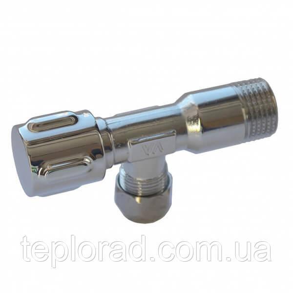 Кран вентильный с металлической ручкой Albertoni Zama 1/2х3/8 (C156284)