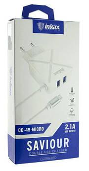 Мобильная зарядка 220V INKAX CD-49+Type-C кабель