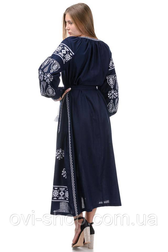 вышитое платье с поясом