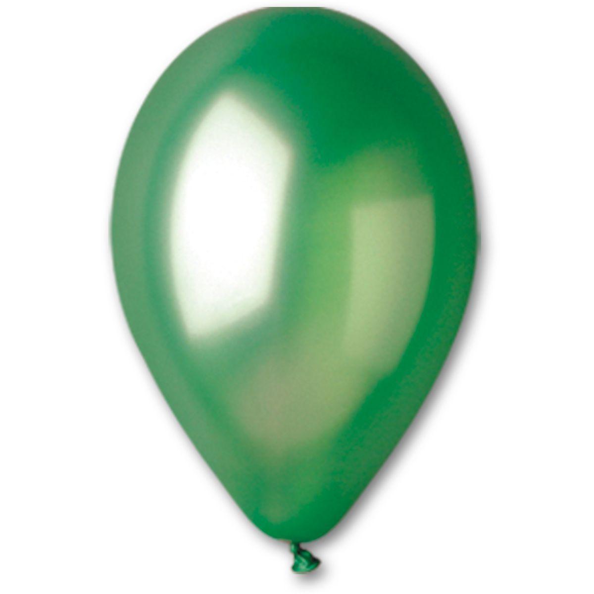 Повітряні кулі GEMAR 10/37 (26см) Металік Зелений 100шт