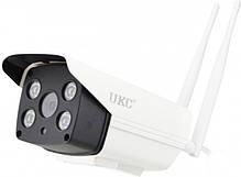 Уличная IP камера видеонаблюдения Ukc Cad 90S10B 2 mp водонепроницаемая беспроводная, фото 3