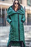 Чорне пальто жіноче з великим коміром : S, M, L, XL., фото 3