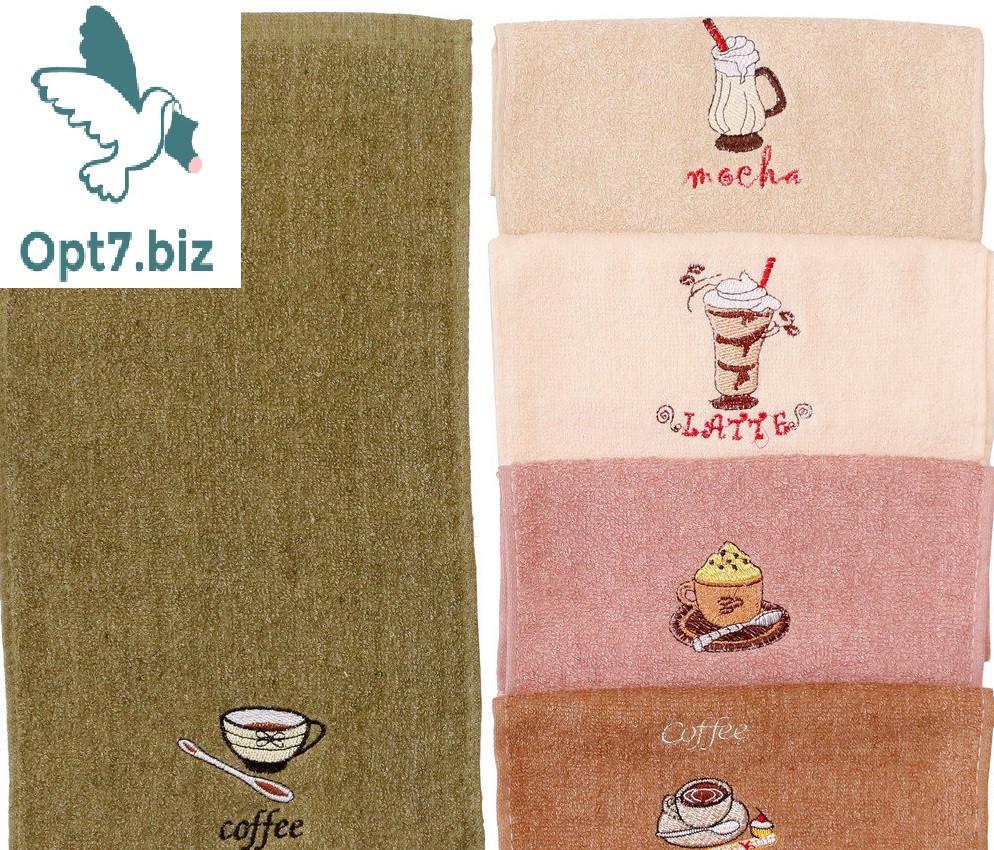 Полотенце кухонное махровое 25*50 см (от 20 шт)