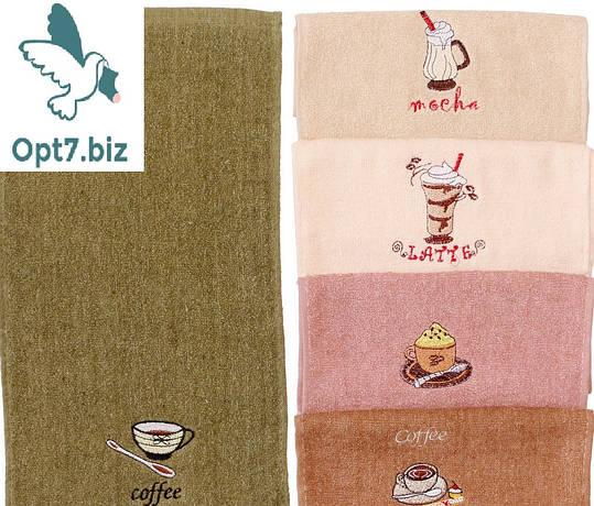Полотенце кухонное махровое 25*50 см (от 20 шт), фото 2