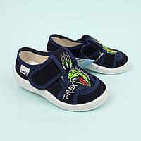 Текстильні туфлі дитячі тапочки Міша, динозавр тм Waldi розмір 24,25,26,28,29,30