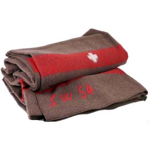 Одеяло швейцарское шерстяное (200x140 см), оригинал, [108] Brown
