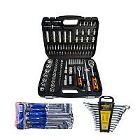 Набор инструментов Black, Sigma, MIOL 3 в 1 Отвертки ключи рожковые в кейсе