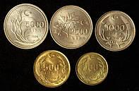 Набор монет Турции (5 шт), фото 1