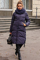 Женская зимнее пальто на биопухе (не сбивается после стирки)