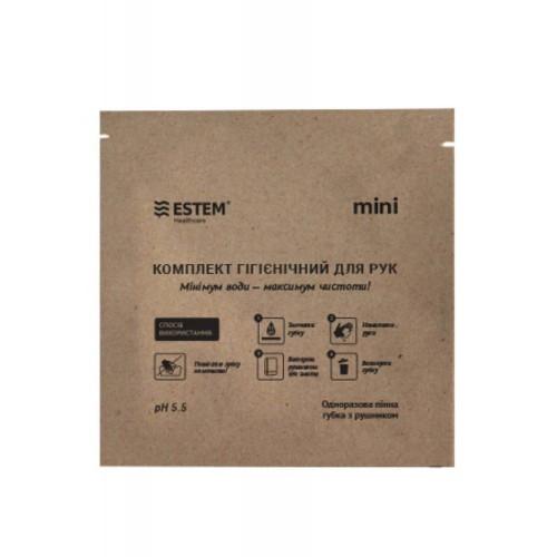 "Одноразовая пенная губка ""Estem MINI"" с полотенцем, [999] Multi"
